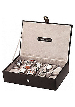 women s jewellery watches jewellery box tesco black bonded leather 10 place watch box
