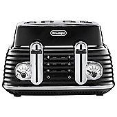 De'Longhi CTZ4003.BK Scultura 4 Slice Retro Classic Toaster - Black