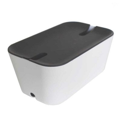Bosign Hideaway White Cable Management Box Medium Size with Grey Lid 30x18x13.8cm