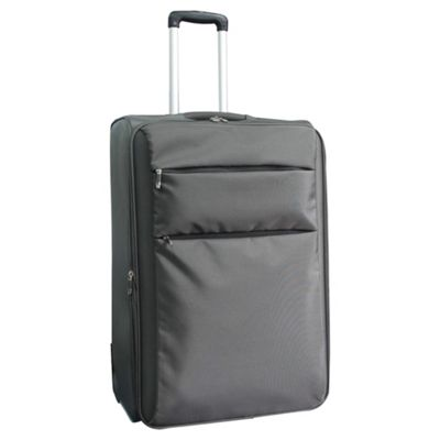 Tesco 2-Wheel Ultra Lightweight Suitcase, Grey Large