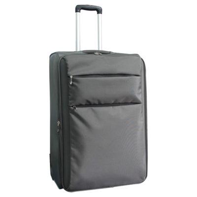 Tesco 2-Wheel Ultra Lightweight Suitcase, Grey Large