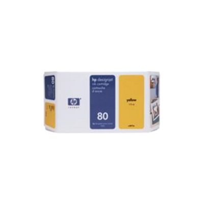 HP 80 Ink Cartridge - Yellow