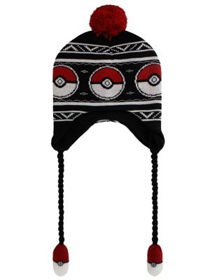 Pokemon Pokeball Laplander Beanie Black