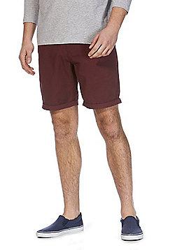 F&F Chino Shorts - Burgundy