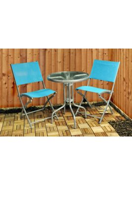 Kingfisher Textoline Garden Bistro Table and Chair Set
