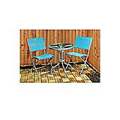 Kingfisher Textoline Garden Bistro Table and Chair Set - Multi