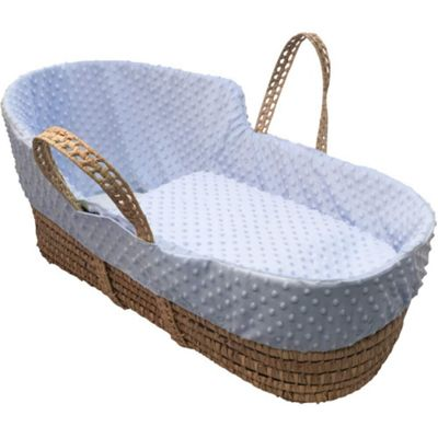 Clair de Lune High Top Palm Moses Basket (Dimple Blue)