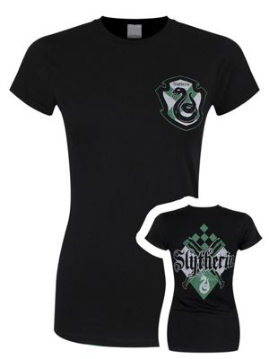 Harry Potter Slytherin House Women's Black T-shirt