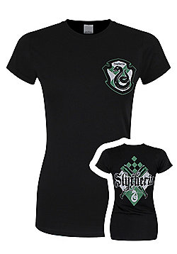 Harry Potter Slytherin House Women's Black T-shirt - Black