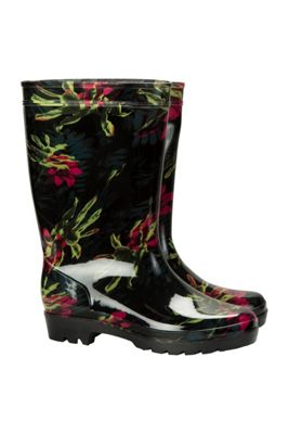 Mountain Warehouse Splash Floral Womens Wellies ( Size: Adult 04 )