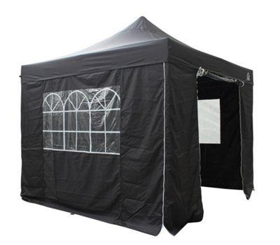 All Seasons Gazebos, Heavy Duty, Fully Waterproof, 3m x 3m Superior Pop up Gazebo Package in Black