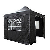 All Seasons Gazebos, Heavy Duty, Fully Waterproof, 3m x 3m Superior Pop up Gazebo Package in Black