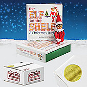 The Elf on the Shelf: A Christmas Tradition (includes girl scout elf with brown eyes). Direct from North Pole post Office with Santa's Gold Seal