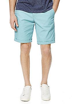 F&F Turn-Up Chino Shorts - Turquoise