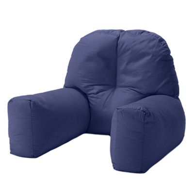 Navy Blue Cotton Twill 'Chloe' Bean Bag Back Rest Reading Cushion