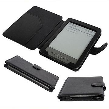 huge discount 91075 99a87 PU Leather Case Cover for Amazon Kindle 4 - Black