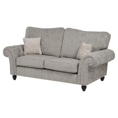 Empress Medium 2.5 Seater Sofa, Light Grey/Taupe