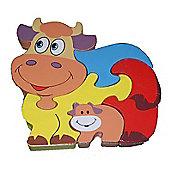Traditional Wood 'n' Fun Farm Animal Puzzles - Cow 12m+