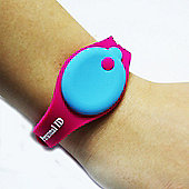 Buddy Tag Child Tracking Device Wristband - Pink Silicone