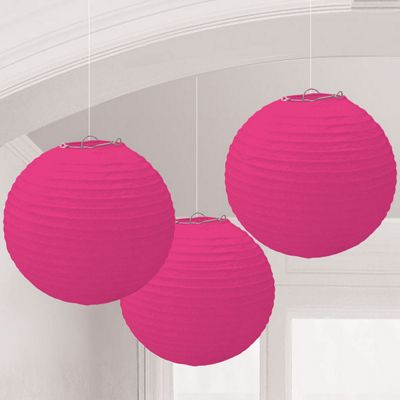 Bright Pink Lanterns - 24cm