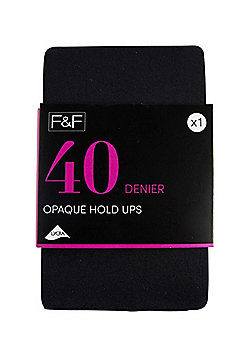 F&F 40 Denier Hold-Ups - Black