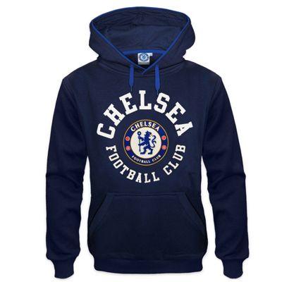 Chelsea FC Mens Hoody Navy Medium