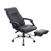 Homcom High Back Office Chair Swivel Reclining Adjustable (Black)