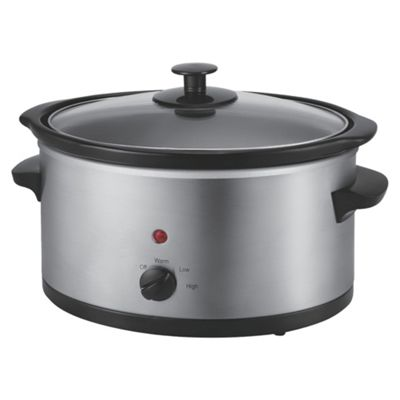 Tesco Slow Cooker, 3L - Silver