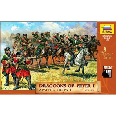 Zvezda 8072 Dragoons Of Peter The Great Model Kit 1:72