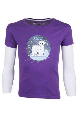 Mountain Warehouse Polar Bear Snowglobe Double Sleeve Kids T-Shirt ( Size: 7-8 yrs )