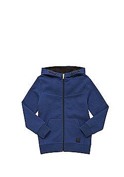 F&F Space Dye Zip-Through Hoodie - Blue