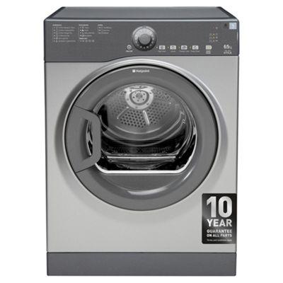 Hotpoint TVYL655C6G Freestanding Vented Tumble Dryer, 7Kg Load, B Energy Rating, Graphite