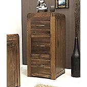 Shiro Walnut Three Drawer Filing Cabinet