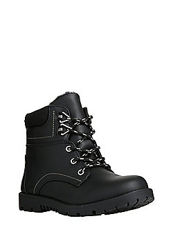 F&F Lace-Up Boots - Black
