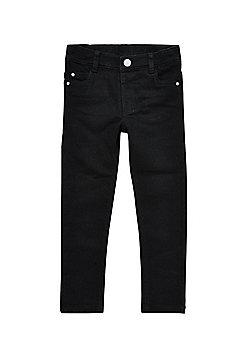 F&F Adjustable Waist Jeans - Black