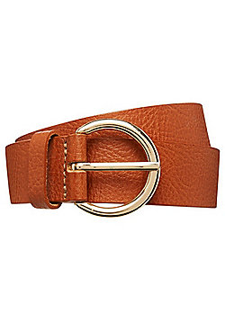 F&F Grained Leather Belt - Tan