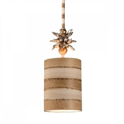 Creme And Tan 1lt Pendant - 1 x 100W E27