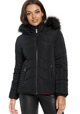 Wallis Petite Short Padded Coat M Black