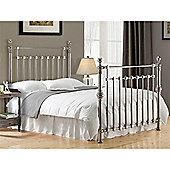 """Chrome Squared Metal Bed Frame - Double 4ft 6"""" - Chrome"""
