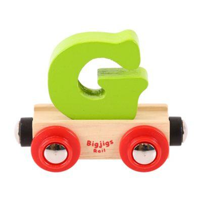 Bigjigs Rail Rail Name Letter G (Green)