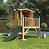 BillyOh Bunny Tower Children's Wooden Playhouse with Slide, 4ft x 4ft