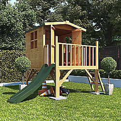 Mad Dash Bunny Tower Xtra Playhouse with Slide, 6ft x 7ft