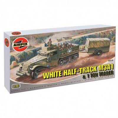 White Half-Track M3A1 & 1 Ton Trailer (A02318) 1:76