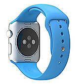 Apple Sport Band Strap (Blue) with Steel Pin for 42mm Watch Case S/M e M/L Genuine TPU Apple Watch et Apple Watch Sport Edition 42 mm Band TPU
