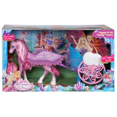 Barbie Mariposa Pegasus Horse & Chariot