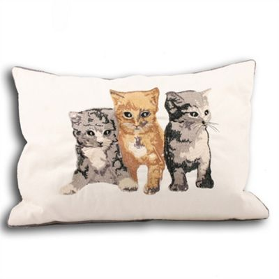 Riva Home Kitty Cream Cushion Cover - 35x50cm