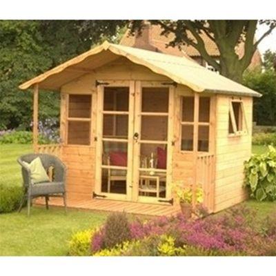 8 x 8 Sutton Tongue & Groove Summerhouse Garden Wooden Summerhouse (8ft x 8ft)