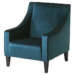 Tate Velvet Accent Chair, Teal
