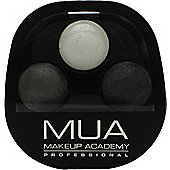 MUA Trio Eyeshadow 6g - Smoke Screen