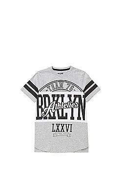 F&F Brooklyn Athletics T-Shirt - Grey/Multi